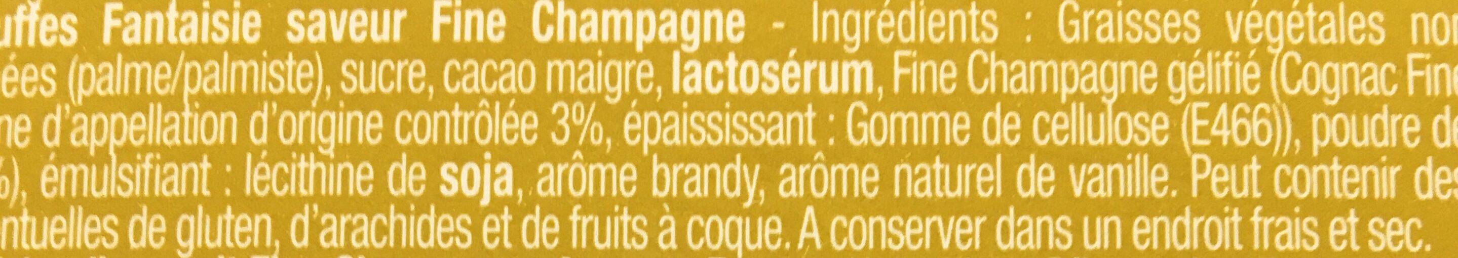 Chocmod Truffettes De France Fine Champagne French Truffles 200 G (pack of 4) - Ingrediënten - fr