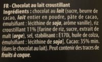 Tuiles - Ingredients - fr