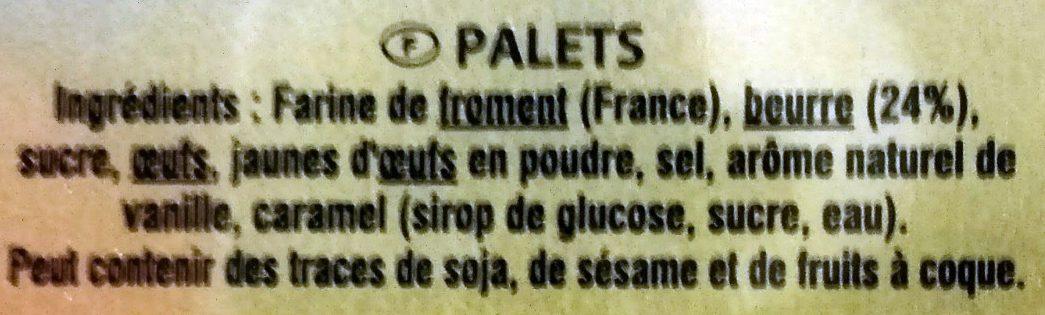 Palets du Mont Saint-Michel - Ingredientes