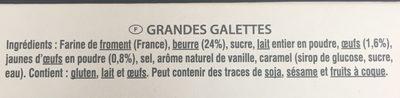 Grandes Galettes La Mère Poulard - Ingrediënten - fr