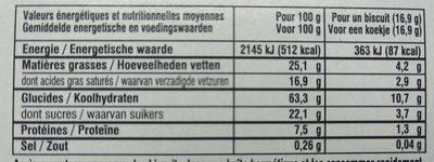 Grandes Galettes La Mère Poulard - Voedingswaarden - fr