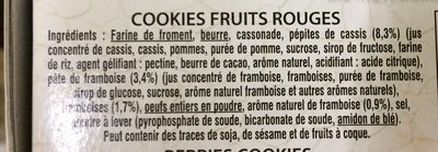 Les Cookies de la Mère Poulard Fruits Rouges - Ingredients - fr