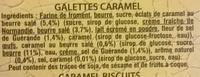 Galettes Caramel - Ingrédients - fr