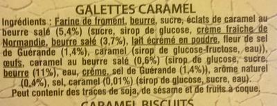 Galettes Caramel - 成分 - fr