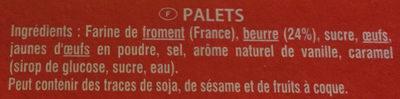 Palets Pur Beurre - Ingrédients - fr