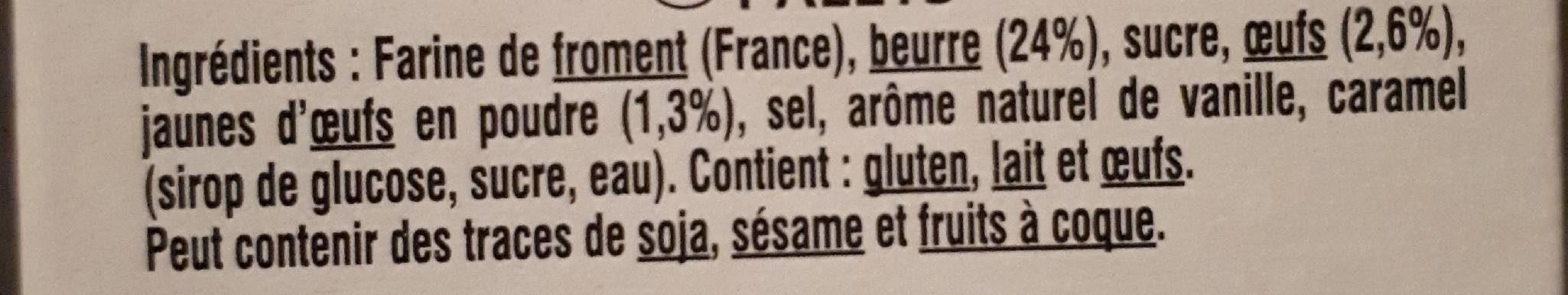 Palets pur beurre - Ingrediënten - fr