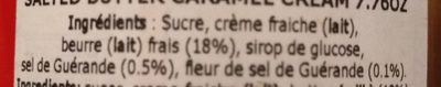 Crème de caramel au beurre salé - Ingredients