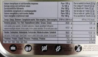 Cookies chocolat - Voedingswaarden - fr