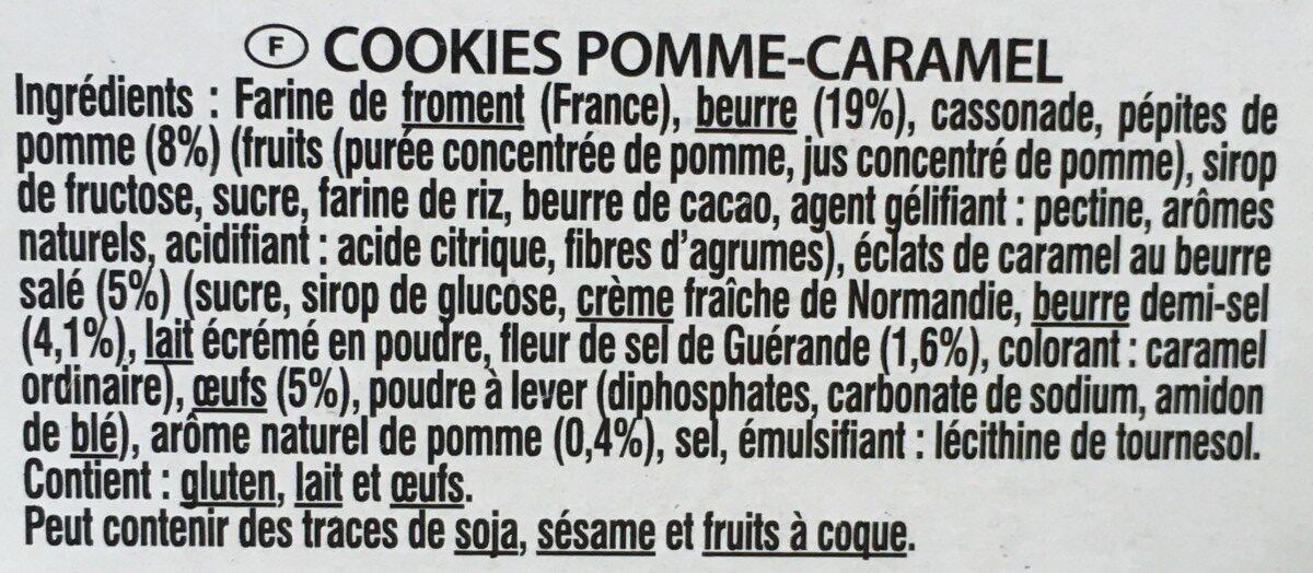Cookies pomme caramel - Ingredients