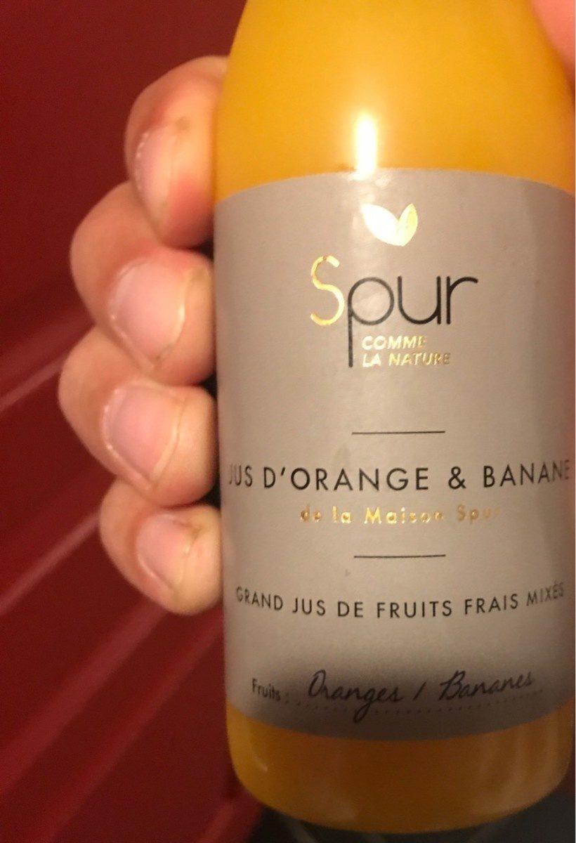 Jus D Orange Et Banane Spur 250 Ml