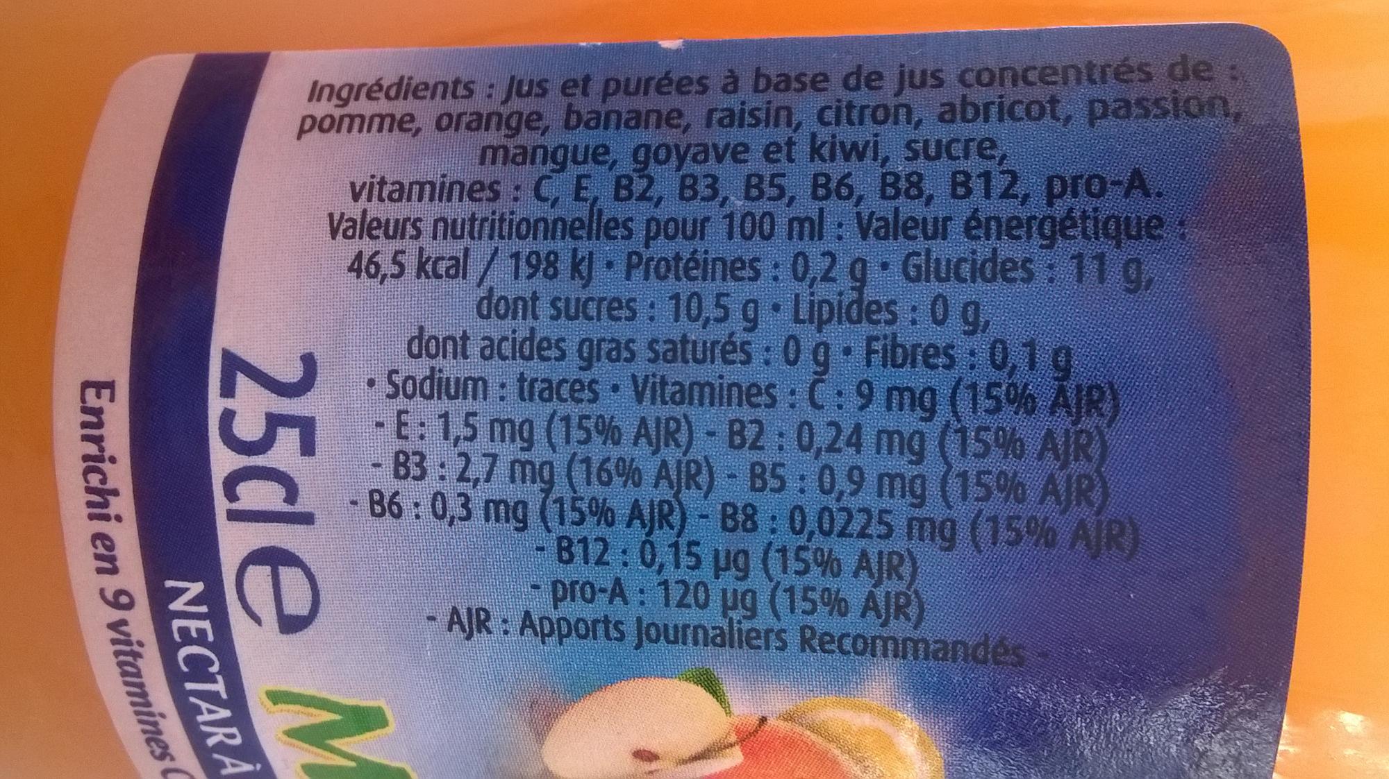 Réa multivitaminé - Ingrediënten