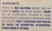 Palets pur beurre - Ingredients - fr