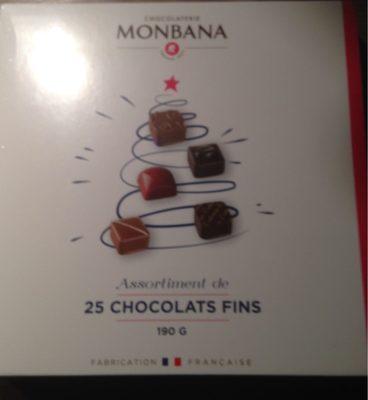 Assortiments de 25 chocolats fin - Produit