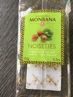 Chocolat au lait aux noisettes - Product