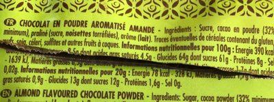 Chocolat en poudre aromatisé amande - Ingrédients - fr