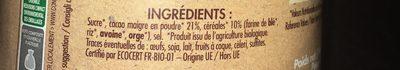 Poudre cacaotée - Ingrediënten