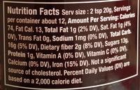 Chocolat épices - Voedingswaarden - fr