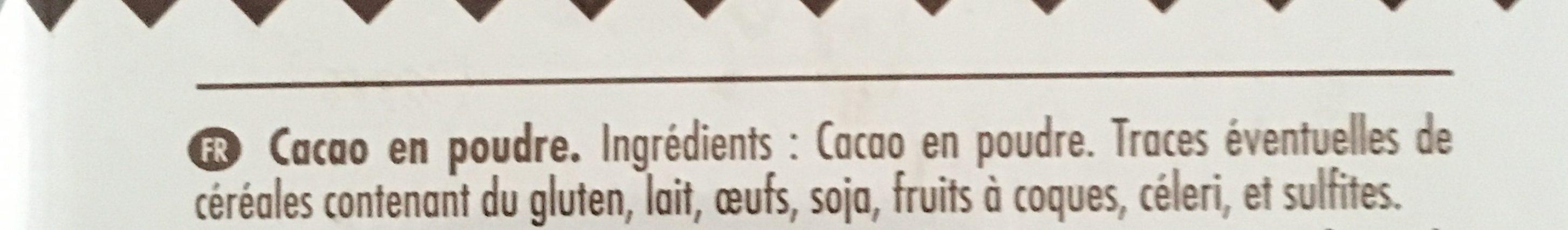 Cacao pur - Ingrédients - fr