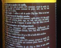 Chocolat Poudre Monbana Vanille - Ingrédients - fr