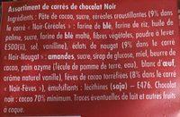 4 saveurs chocolat noir - Ingrédients - fr