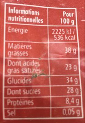 4 saveurs chocolat noir - Informations nutritionnelles - fr