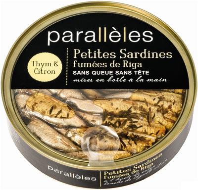 Petites sardines de Riga au thym et au citron - Produit