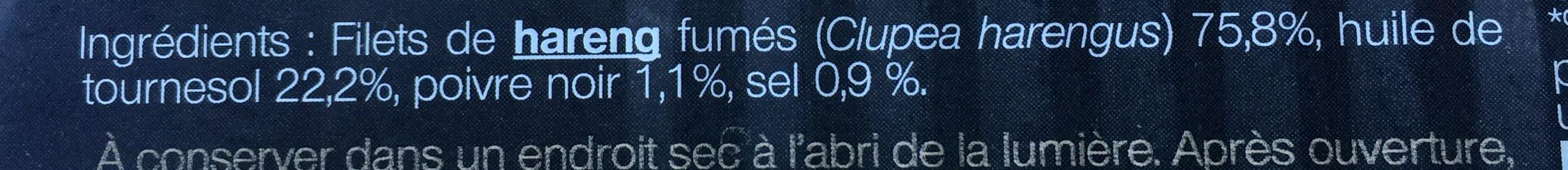 Filets de hareng fumes - Ingredienti - fr