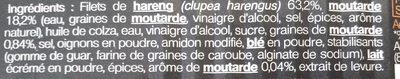 Filets de hareng à la moutarde et graines de moutarde - Ingredients