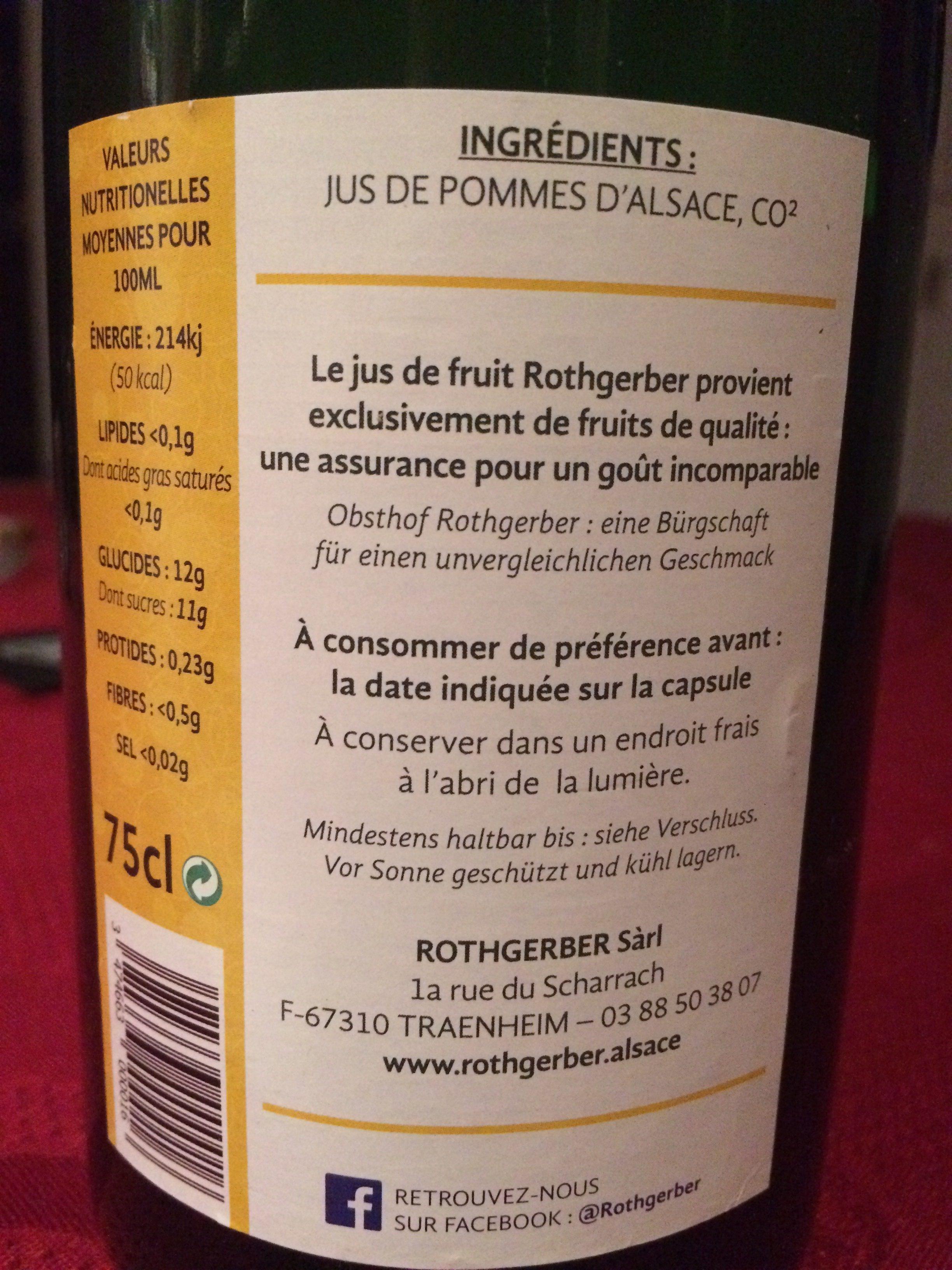 Petillant de pomme - Ingredients