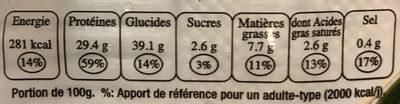 8 Raviolis aux Crevettes / 8 Bouchées aux Crevettes - Nutrition facts - fr