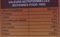 Semoule de millet etui 400g adicom - Nutrition facts - fr