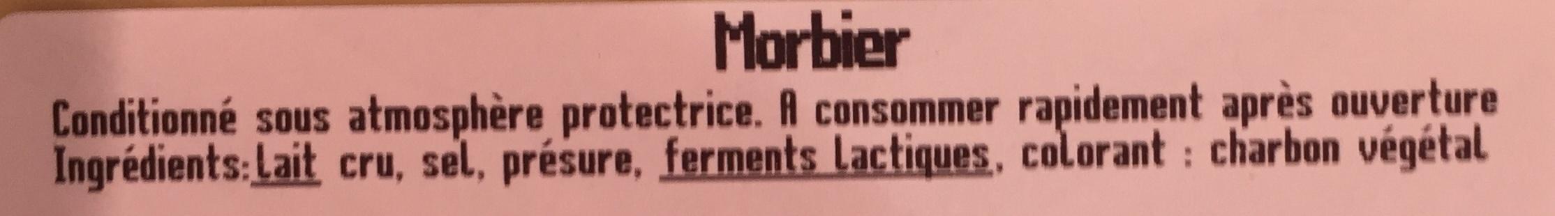 Morbier en tranchettes au lait cru - Ingrédients - fr