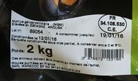 Moules de Cordes - Ingredients - fr