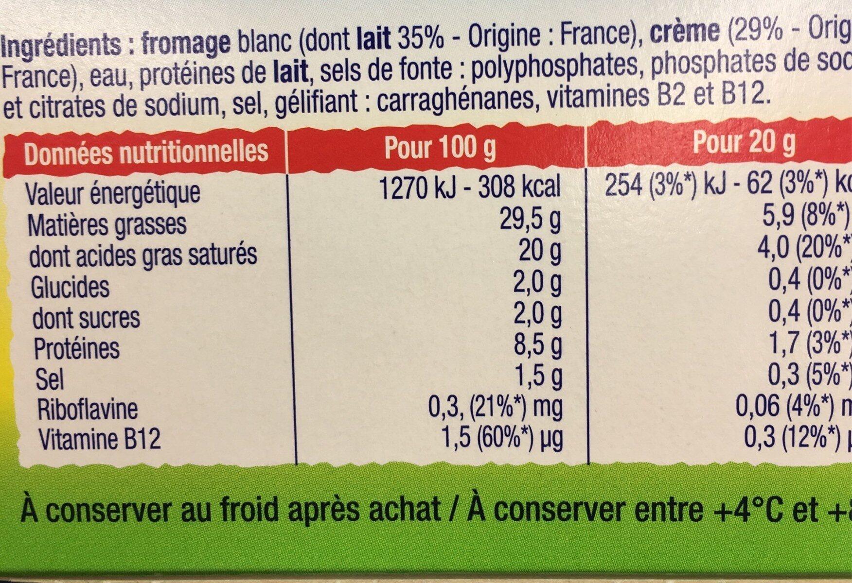 choubidou à la crème - Informació nutricional - fr