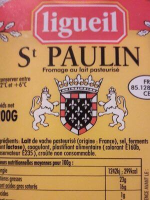 St PAULIN LIGU - Voedigswaarden