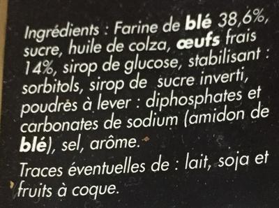 Madeleines coquille aux oeufs frais - Ingrédients