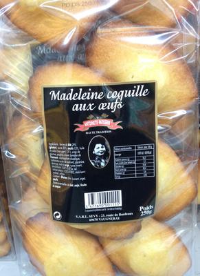 Madeleine coquille aux oeufs - Produit