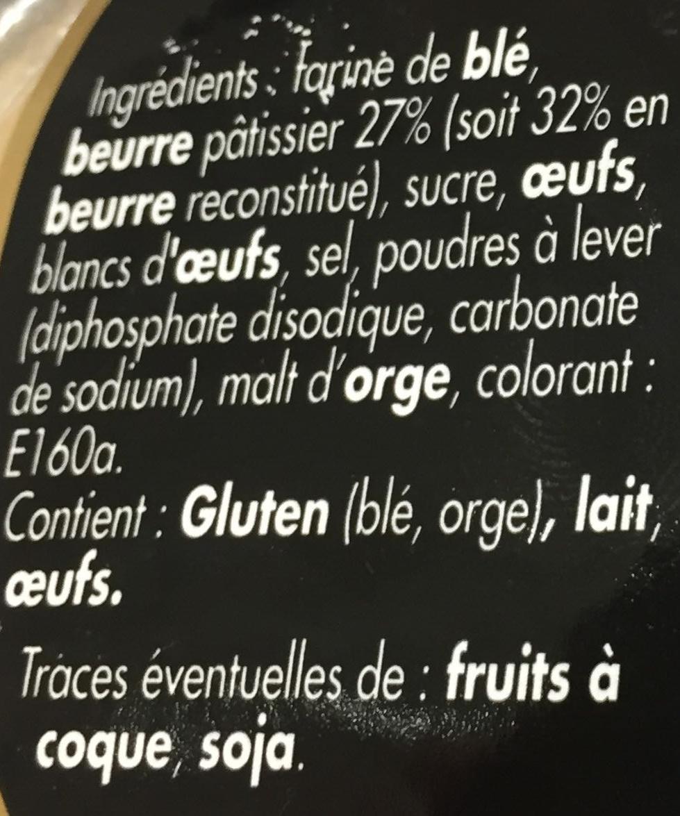 Palets bretons pur beurre - Ingrédients - fr