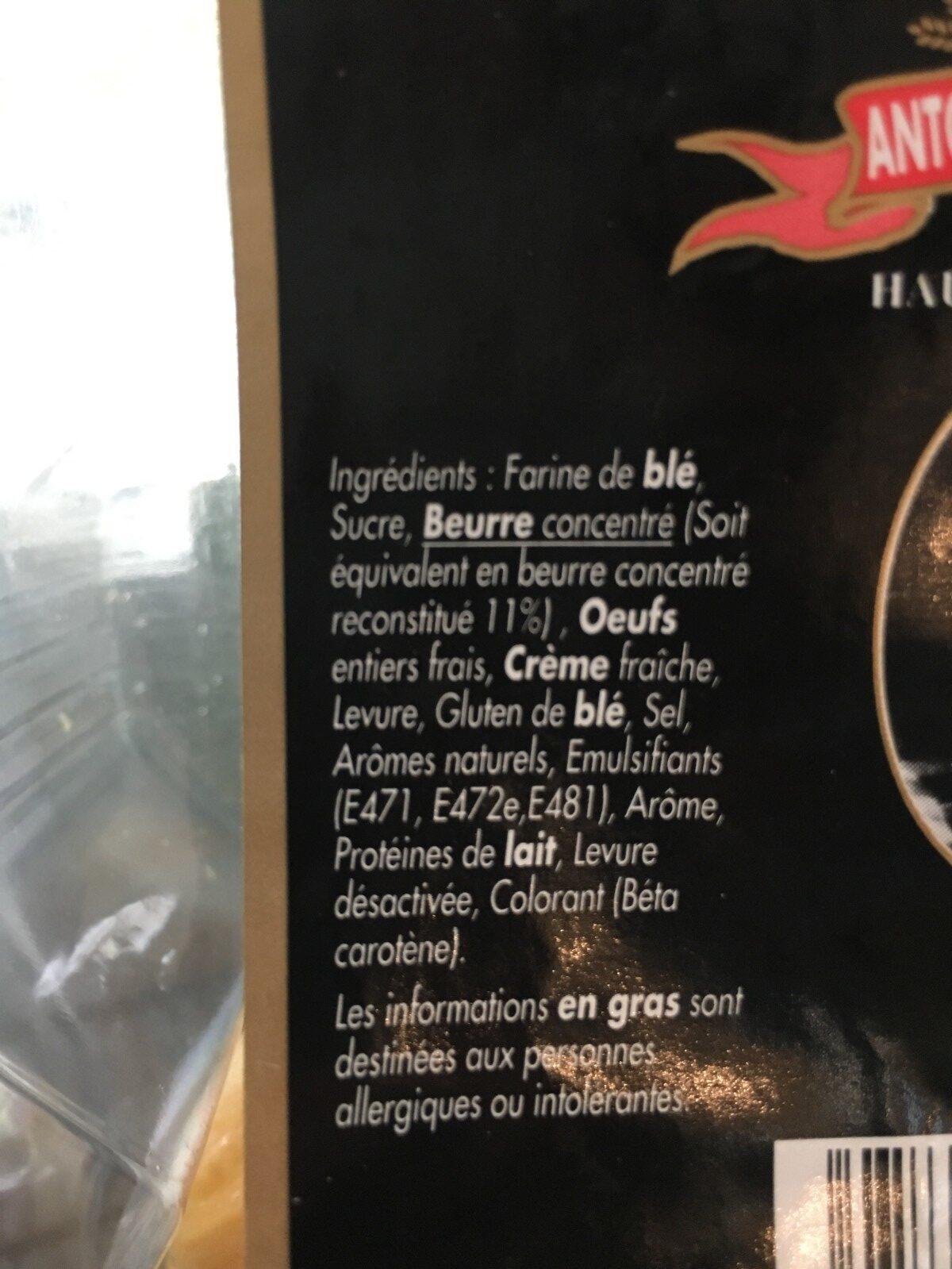 8 mini gâches - Ingrédients