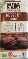 Chocolat noir dessert 58% cacao - Product