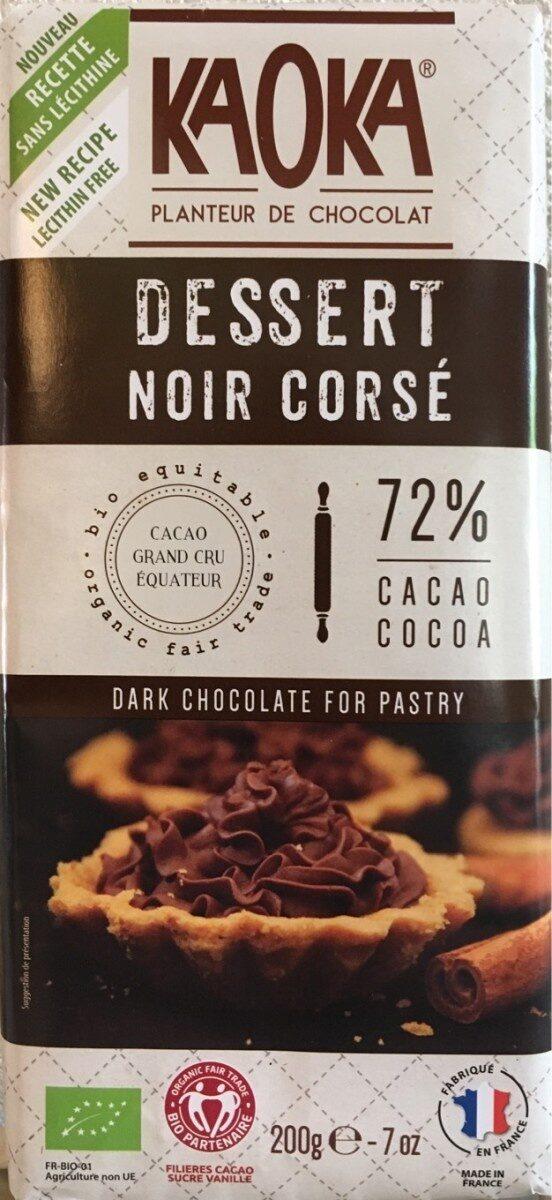 Tablette Dessert Noir Corsé 72% Cacao - Produit - fr
