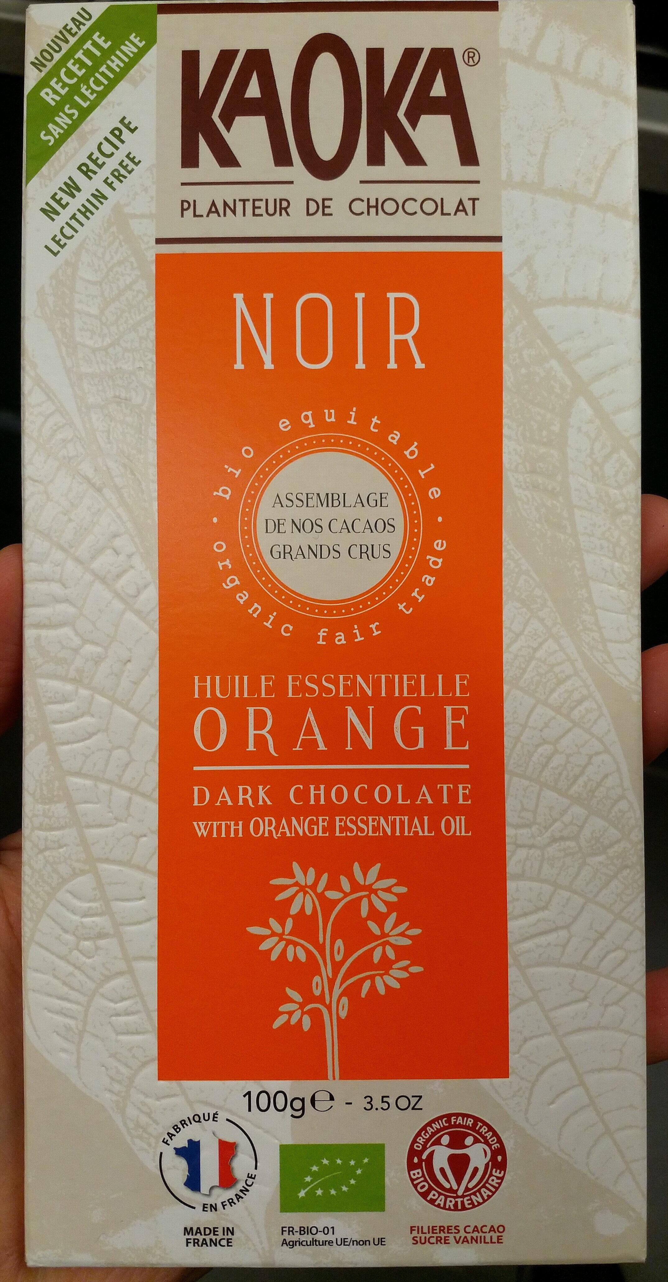 Chocolat noir huile essentielle orange - Product