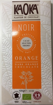 Chocolat noir orange - Producte