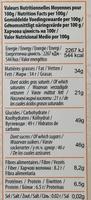 Chocolat noir orange - Voedigswaarden