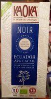 Noir Ecuador 80 % cacao - Product