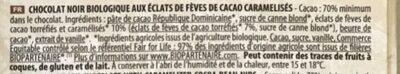 Noir éclats de cacao éclats caramélisés - Ingredients