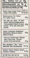 Noir éclats de cacao éclats caramélisés - Nutrition facts