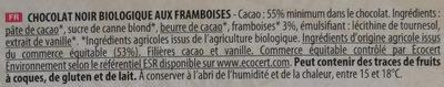Noir Framboises - Ingredients