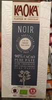 Chocolat Noir 90% cacao - Pure Pâte de Cacao - Product - fr
