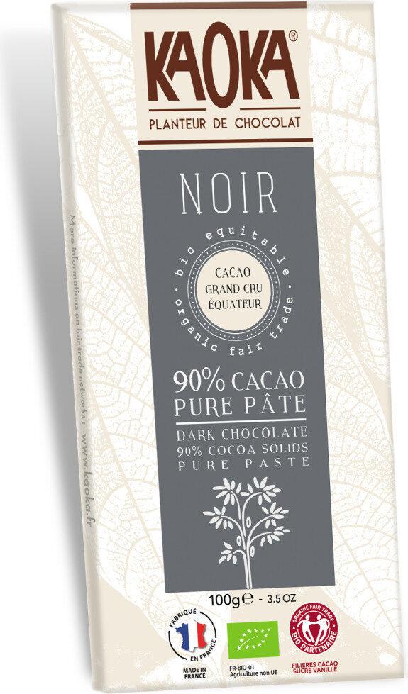 Chocolat Noir 90% Bio - Product - fr